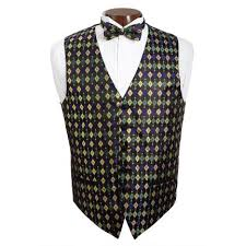 mardi gras vests david s formal wear mardi gras diamond vest and tie set