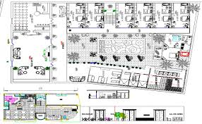 hotel floor plan dwg layout plan dwg file