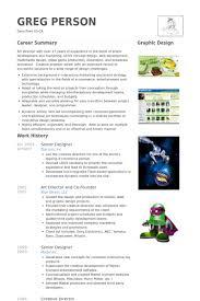 Senior Web Designer Resume Sample Senior Designer Resume Samples Visualcv Resume Samples Database