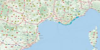French Riviera Map French Riviera Route Detail Tomtom