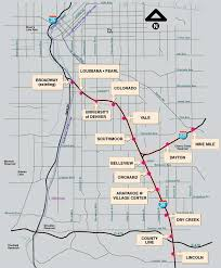rtd rail map rtd facts and figures southeast corridor light rail line