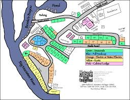 Michigan Campgrounds Map by Matsons Campground