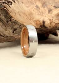 diamond wood rings images Eight diamond inlay cobalt wooden ring lined with bourbon barrel JPG
