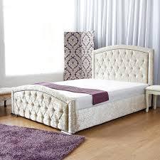 Crushed Velvet Bed Affordable Cbs New York Crushed Velvet Diamante Bed Frame