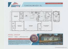fleetwood manufactured home floor plans 2017 fleetwood sandalwood xl 28563p mobile 13b pitts homes inc