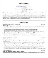 good marketing resume sample social media marketing resume berathen com