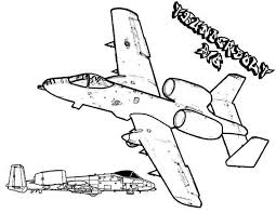 fairchild 10a thunderbolt airplane coloring download