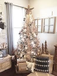 rustic farmhouse mantel tree decor neutral