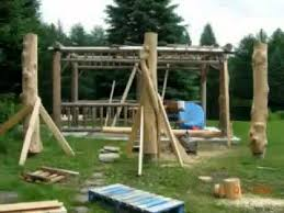 How To Build A Wooden Pergola by How To Build A Log Gazebo Youtube