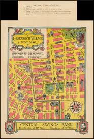 Greenwich England Map by A Map Of Greenwich Village By Tony Sarg Barry Lawrence Ruderman