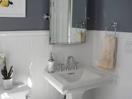 tile wainscot bathroom home design ideas