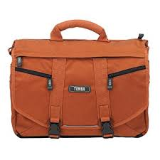 tenba messenger small photo laptop bag burnt orange