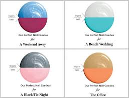 best color combos a mani pedi chart for unusual and awesome colour combinations