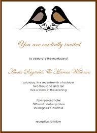 Invitation For Marriage Sample Of Invitation For Wedding Iidaemilia Com