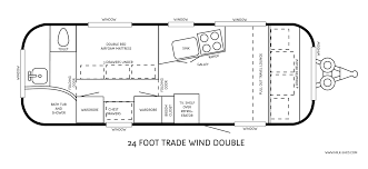 Twin Home Plans Airstream Floor Plans Home Design