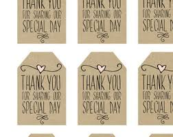 Thank You Tags Wedding Favors Templates by Custom Favor Tags Printable Wedding Favor Tags Spread The