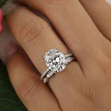 oval wedding rings size 9 4 25 ctw oval wedding set solitaire engagement ring