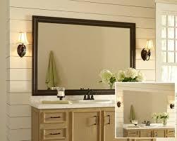 how to frame mirror in bathroom custom mirror frame houzz
