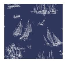 Sailboat Wallpaper York Wallcoverings Ac6136 Nautical Living Sailboat Wallpaper