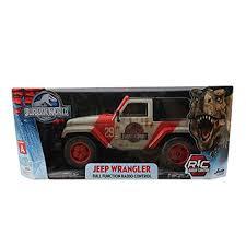 jurassic world jeep jada toys jurassic world jeep remote control car 1 16 scale ages 6