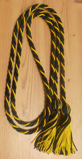 graduation accessories intertwined 2 color graduation honor cords braided cords