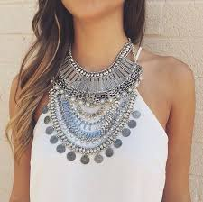 long silver statement necklace images Silver statement necklaces uk la necklace jpg