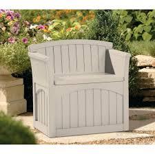 Outdoor Storage Bench Waterproof Plastic Garden Bench With Storage Full Image For Rolling Garden