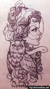 tattoo girl owl girl owl and snake tattoo design top tattoo ideas