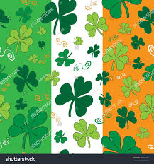 Flags That Are Orange White And Green St Patricks Day Seamless Vector Pattern Stock Vector 790481785