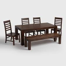 dining room table with bench and chairs bench decoration