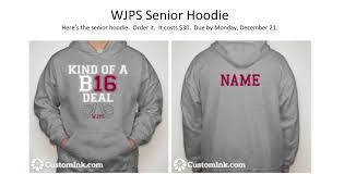 pay for senior sweatshirts wjps news