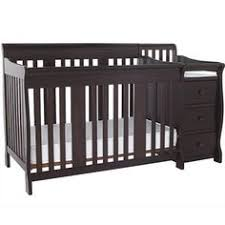 Black Crib With Changing Table Best Crib And Changer Combo Convertible 3 In 1 Detachable