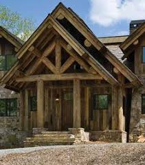 Hamill Creek Timber Homes Sugarloaf Timber Frame Home Like Balcony Over Garage And Use Of Rock And