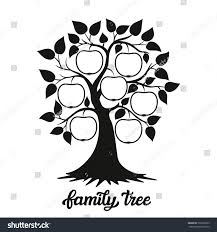 family tree apple tree silhouette hand stock illustration family tree apple tree silhouette and hand drawn calligraphy family tree