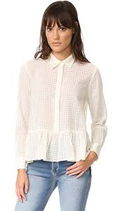 oxford blouse the great the ruffle oxford blouse shopbop