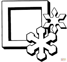 simple snowflake coloring page free printable pages within