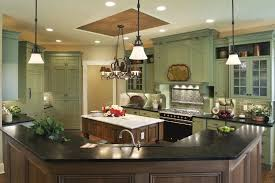 green kitchen cabinets with white island 23 green kitchen ideas some photos look great and some not