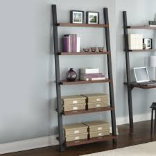 furniture home how to decorate a leaning bookcase with leaning