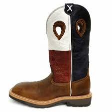 twisted x tx flag work boot square steel toe mlcs007 lone star
