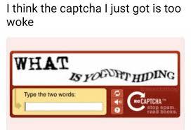 Captcha Memes - dopl3r com memes i think the captcha l just got is too woke what