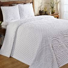 Cotton Quilted Bedspread Solid Color Bedspreads Touch Of Class