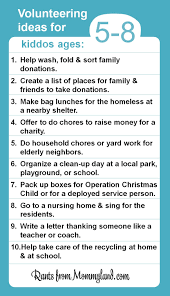 volunteer and service ideas for kiddos ages 5 8 kids can do a lot
