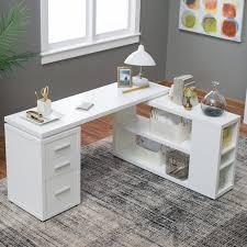 Reversible L Shaped Desk Hudson L Shaped Desk White Hayneedle