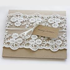 wedding invitations lace rustic lace wedding invitations pocketfold design