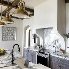 Grey Wash Kitchen Cabinets Gray Wash Kitchen Cabinets With Vintage Brass Pulls Transitional
