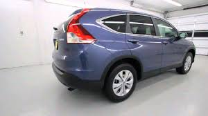 honda crv blue light 2013 honda cr v ex l awd twilight blue metallic stk dh668051