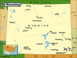 map of wyoming of wyoming usa