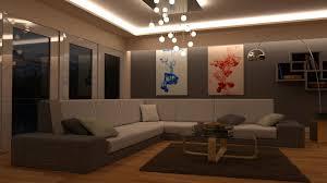 3d Room 3d Model Lounge Room Day And Night Scene Blender Models Vr Ar
