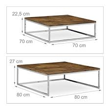side table set of 2 relaxdays flat nested coffee tables set of 2 natural nesting tables