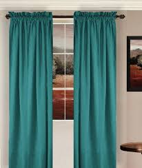 Teal Curtains Solid Teal Colored Window Curtain Available In Many Lengths
